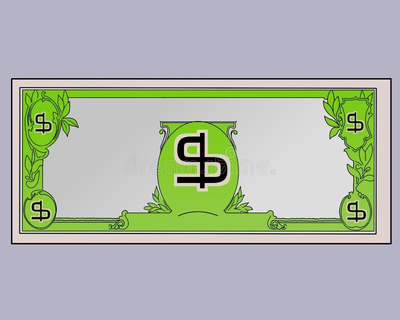 US Dollar illustration in flat colours vector illustration