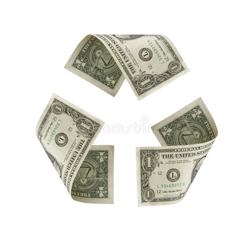 US Dollar Recycle Symbol