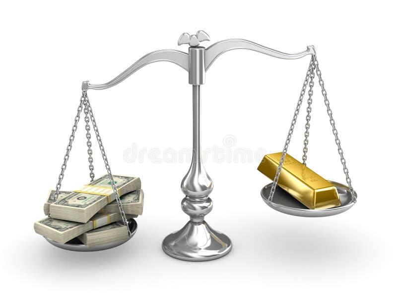 Download US Dollar Vs Gold Stock Image - Image: 7865741