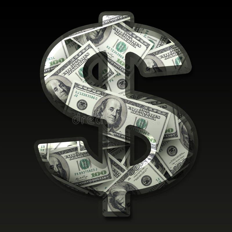 US-Dollar Zeichen lizenzfreie abbildung