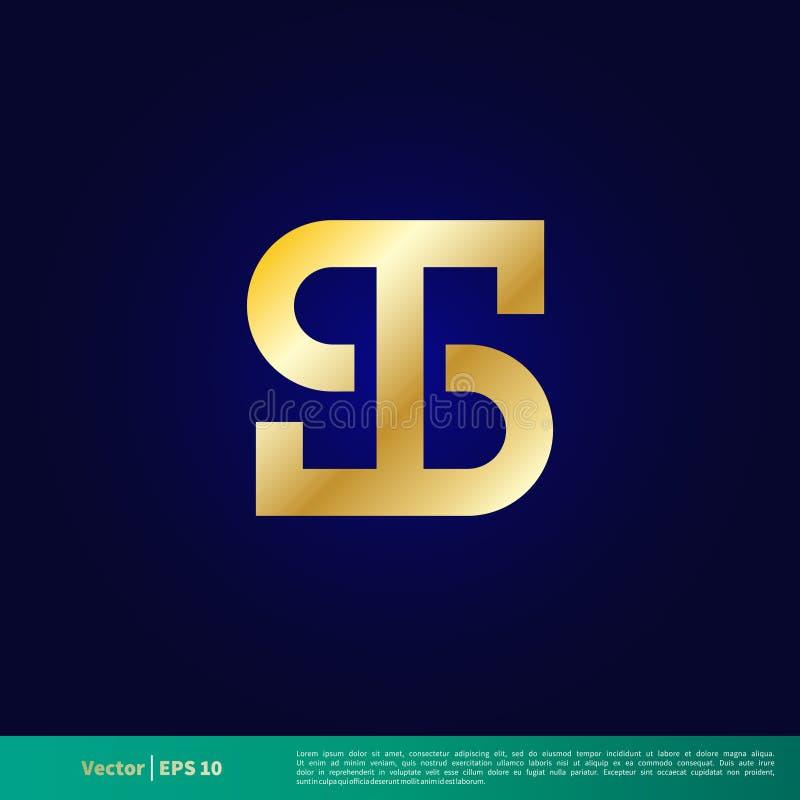 US-Dollar Zeichen-Ikonen-Vektor Logo Template Illustration Design Vektor ENV 10 vektor abbildung