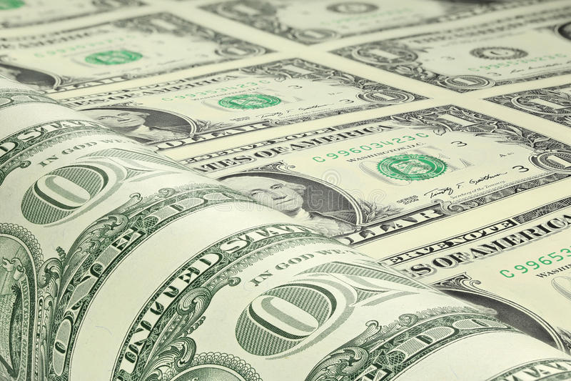 US dollarark royaltyfri bild