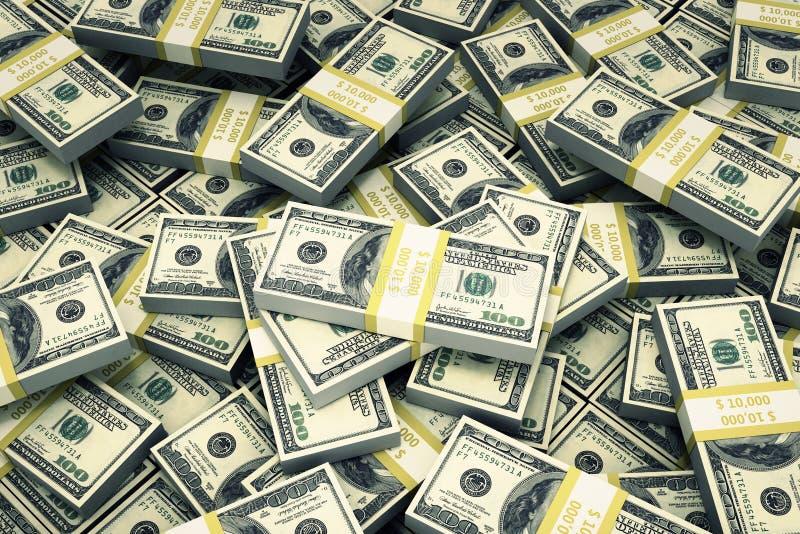 US-Dollars Bündel Bargeld stock abbildung