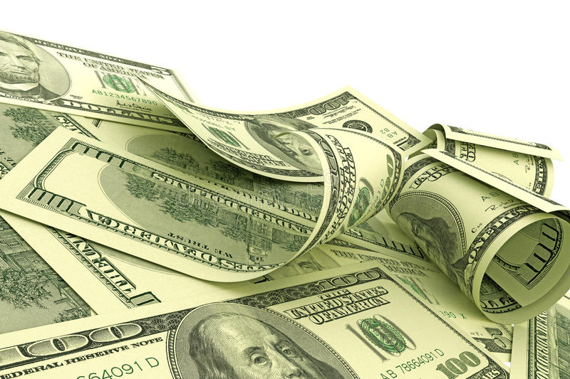 Download US Dollars notes stock illustration. Image of paper, currency - 25754663