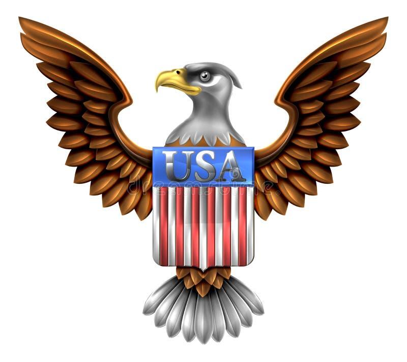 US Eagle Shield Design royalty free illustration