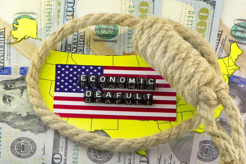US economic default. And loop royalty free stock images