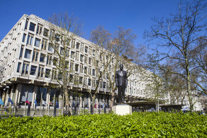 US Embassy in London stock image