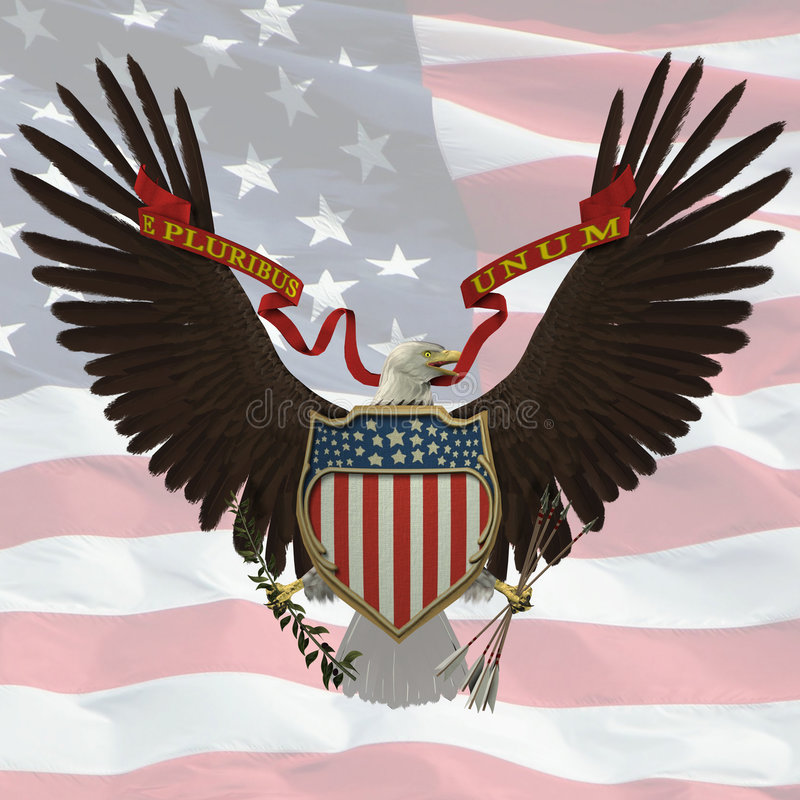 US Emblem royalty free stock photo