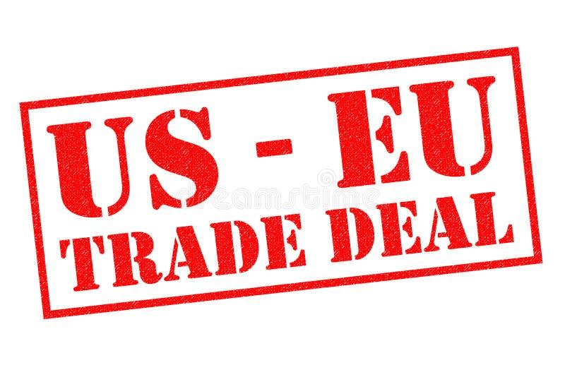 US - EU-HANDELS-ABKOMMEN Stempel vektor abbildung