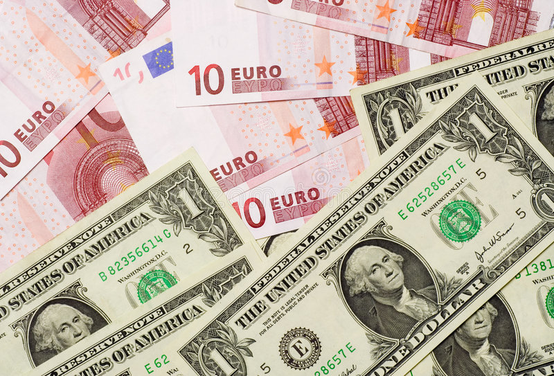 Download US and Euro currencies stock image. Image of rate, cash - 2658699
