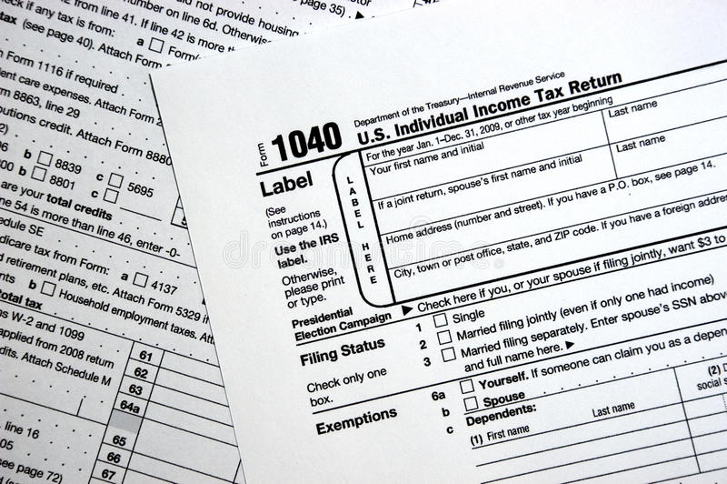 Us Federal 1040 Tax Form, Plain Forms Concept Editorial