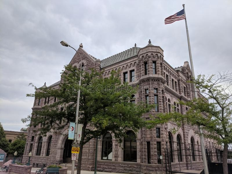 United States Court House. The US Federal Building in downtown Sioux Falls at the corner of Phillips Ave and 12th Street. Federal court and offices, including royalty free stock photography