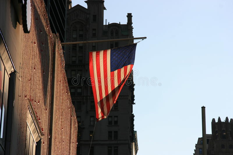 US Flag. In New York royalty free stock images