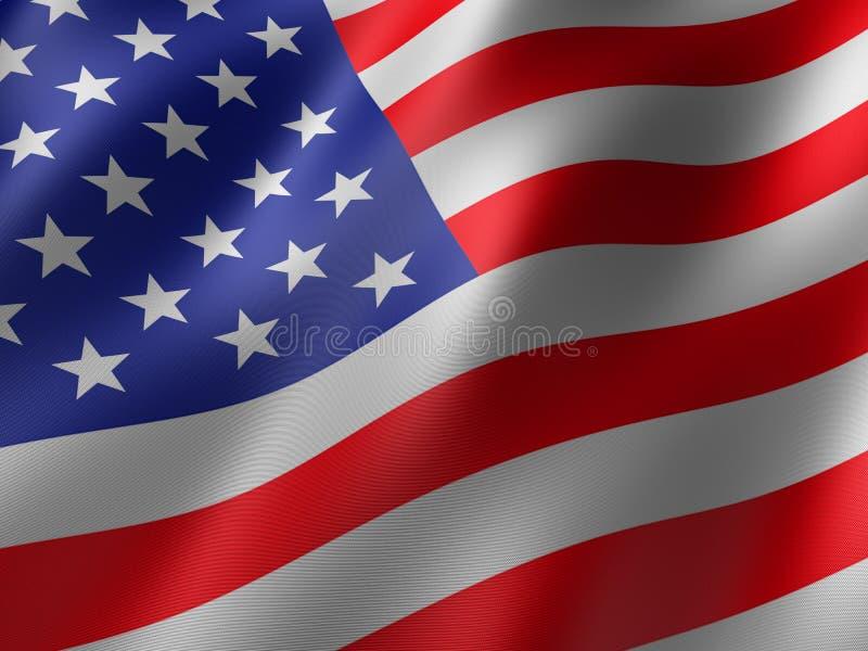 Us flag stock illustration