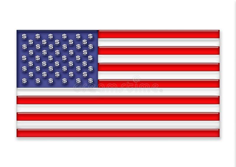 Download US flag stock illustration. Image of blue, star, national - 5695286
