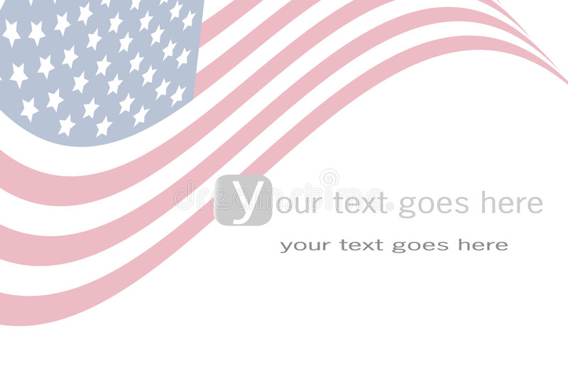 Us flag background royalty free illustration