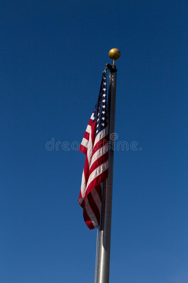 Us flag. With blue sky at background stock photo