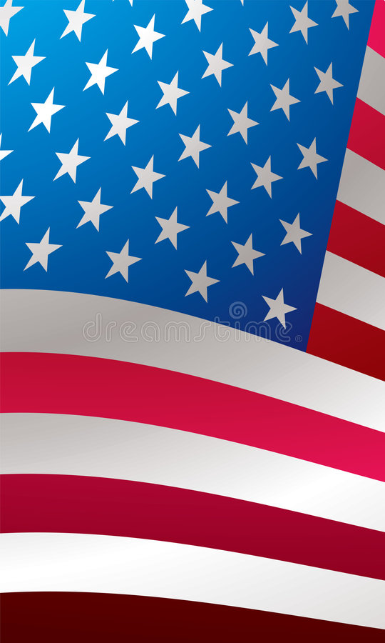 Us Flag Close Royalty Free Stock Images