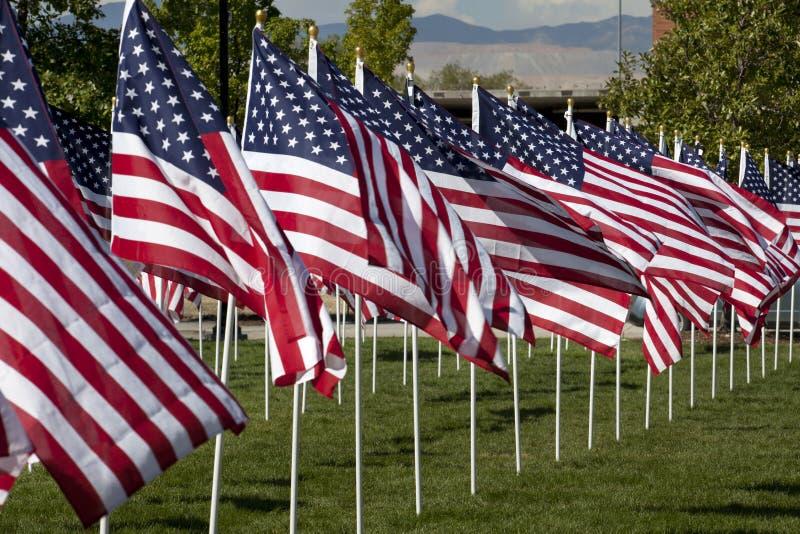 US Flag Display royalty free stock photography