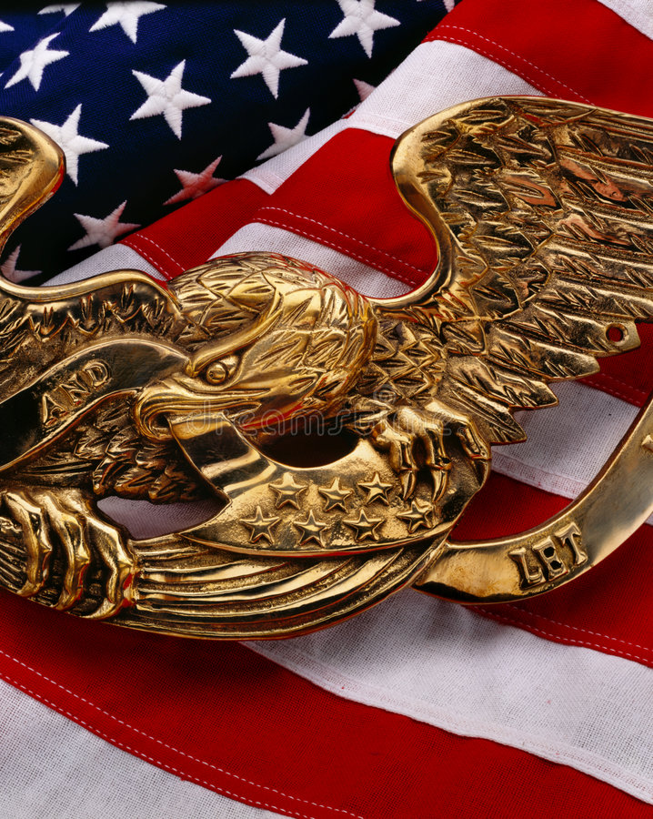 Download US Flag With Eagle Royalty Free Stock Photography - Image: 7292327