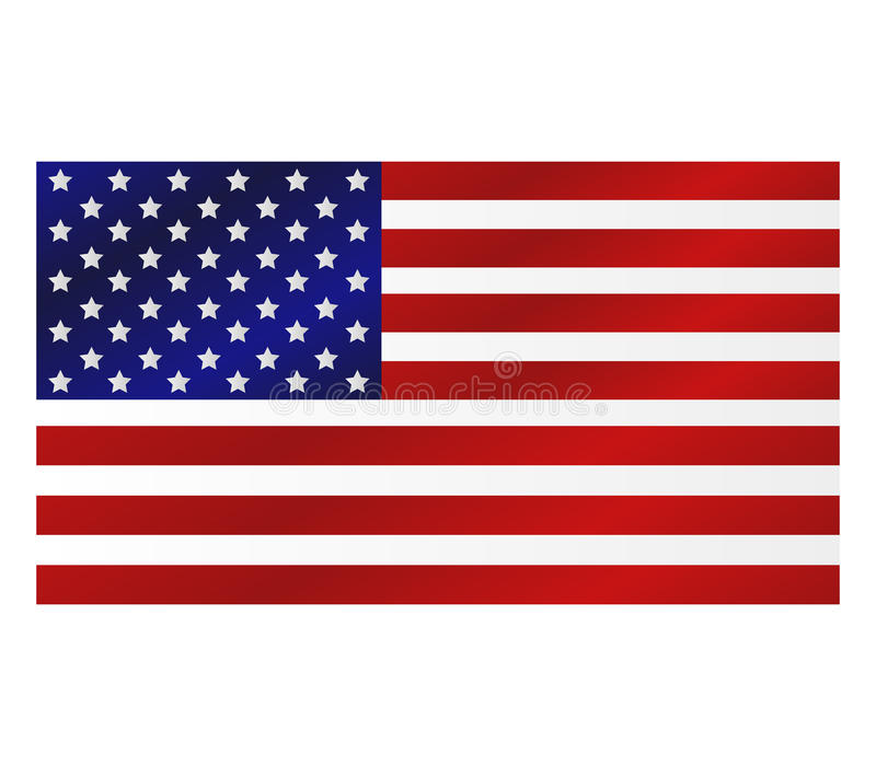 US flag illustrated stock illustration