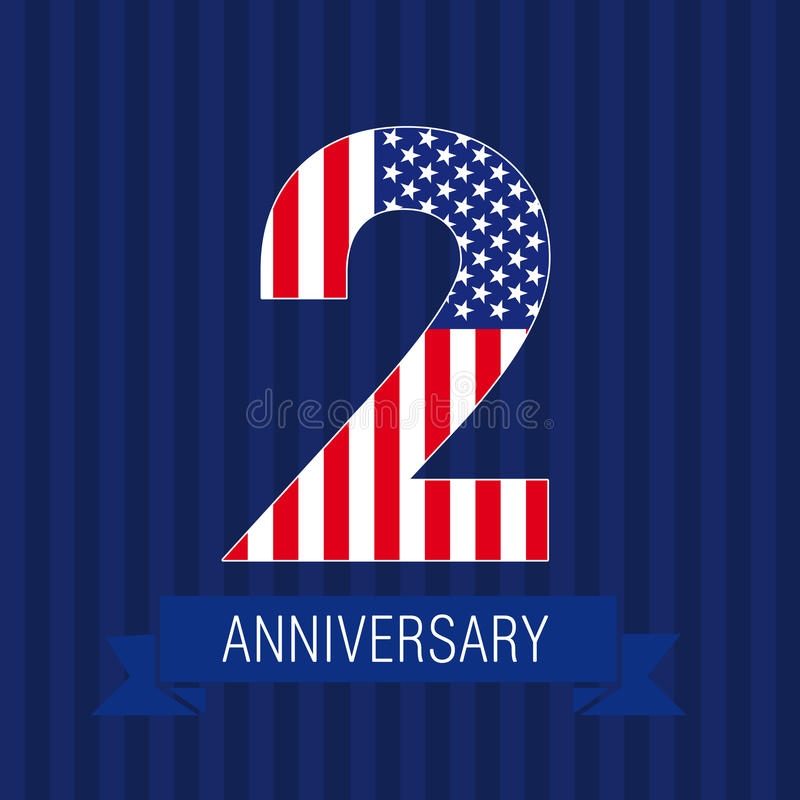 2 US flag logo. vector illustration