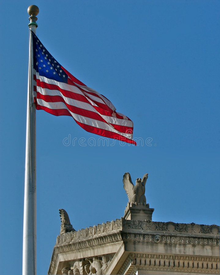 Download US Flag And National Archives Stock Image - Image: 4104613