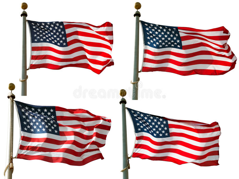 US Flag on Pole stock images