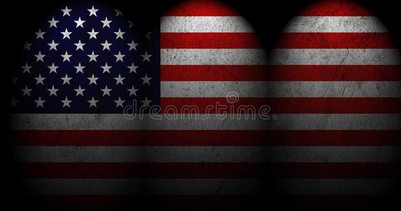 Download US Flag with spot light. stock illustration. Image of blue - 32064500