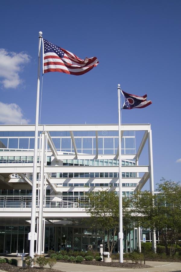 US Flag State of Ohio Flag royalty free stock photos