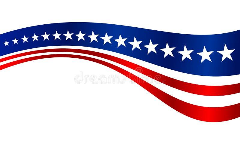 US Flag Stripes Vector Graphic Background stock illustration