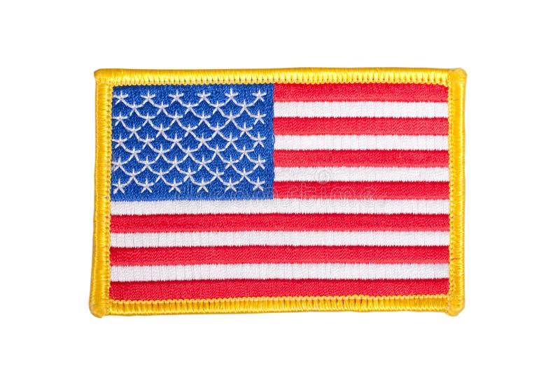 US FLAG uniform badge. Isolated royalty free stock photography