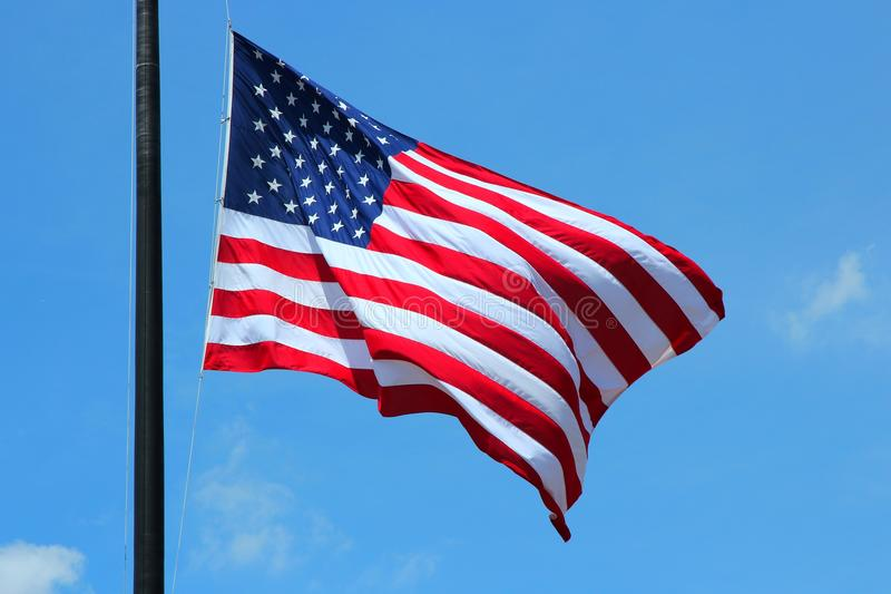 US Flag. Flag of the United States, famous star spangled banner royalty free stock images