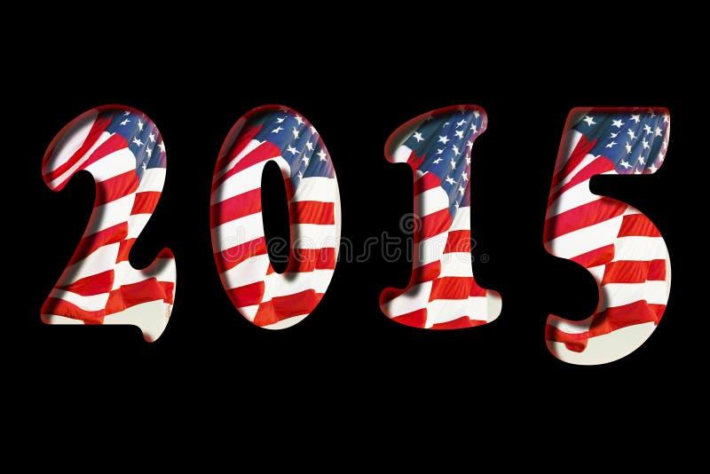 2015 US-Flagge stockbild