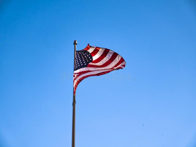 US-Flagge, New York, USA lizenzfreies stockfoto