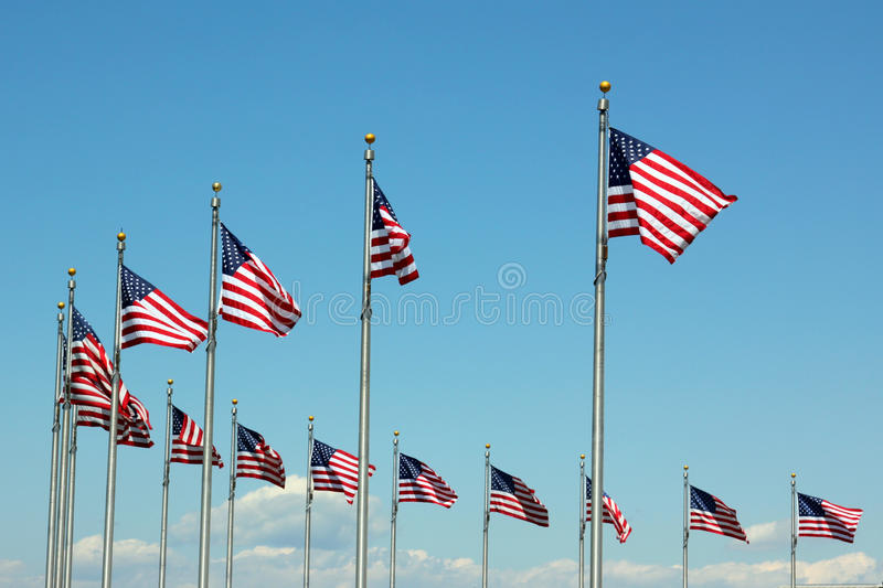 US Flags stock image