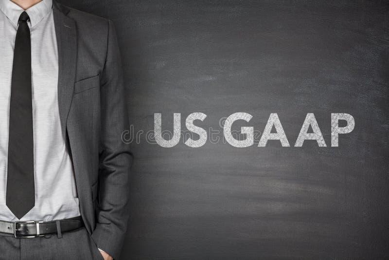 US Gaap auf Tafel lizenzfreie stockfotos