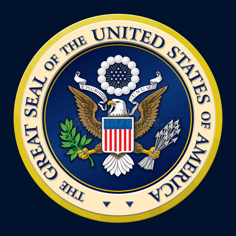 The Great Seal of the US vector illustration