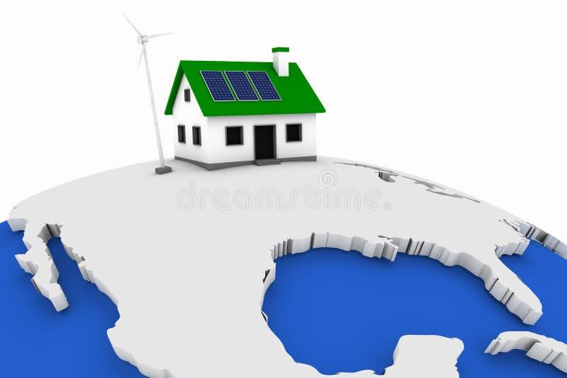 US-grüne Energie lizenzfreie abbildung