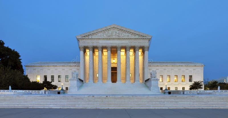 Us-högsta domstolenbyggnad royaltyfri fotografi