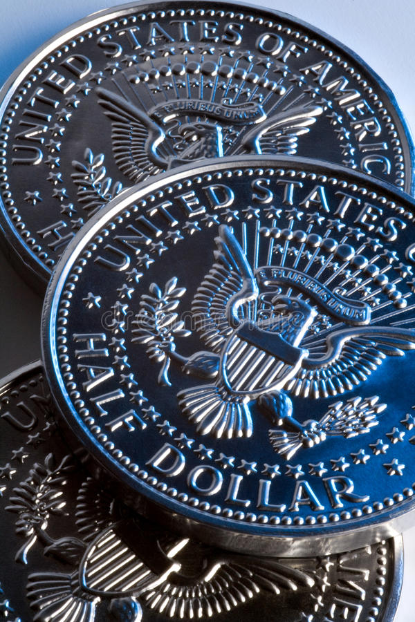 Download US Half Dollar coins stock photo. Image of invest, banking - 14037488