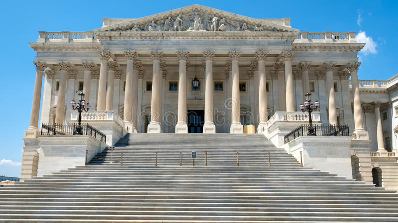 The US House of Representatives at the Capitol in Washington D. stock photography