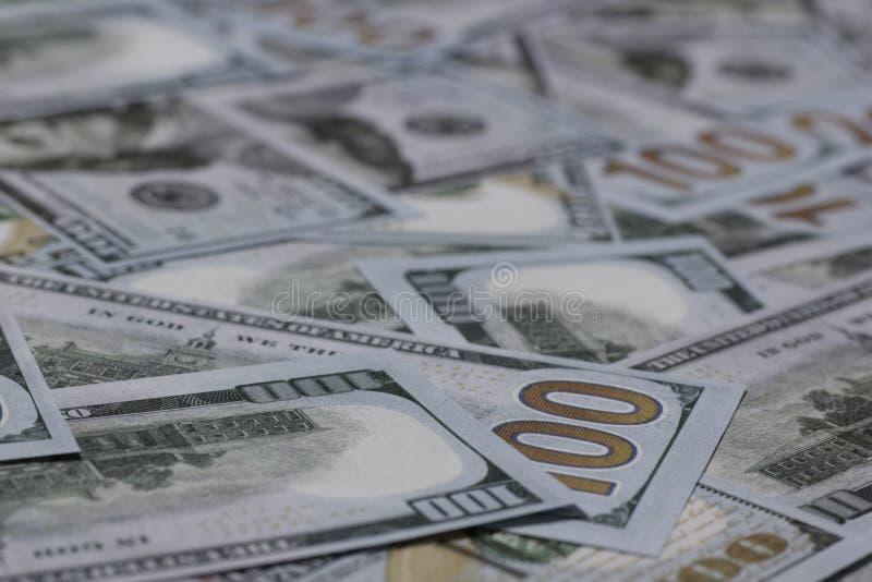 US hundert Dollar-Banknoten stockfoto
