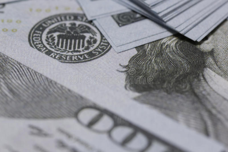 US hundert Dollarnahaufnahme lizenzfreie stockbilder