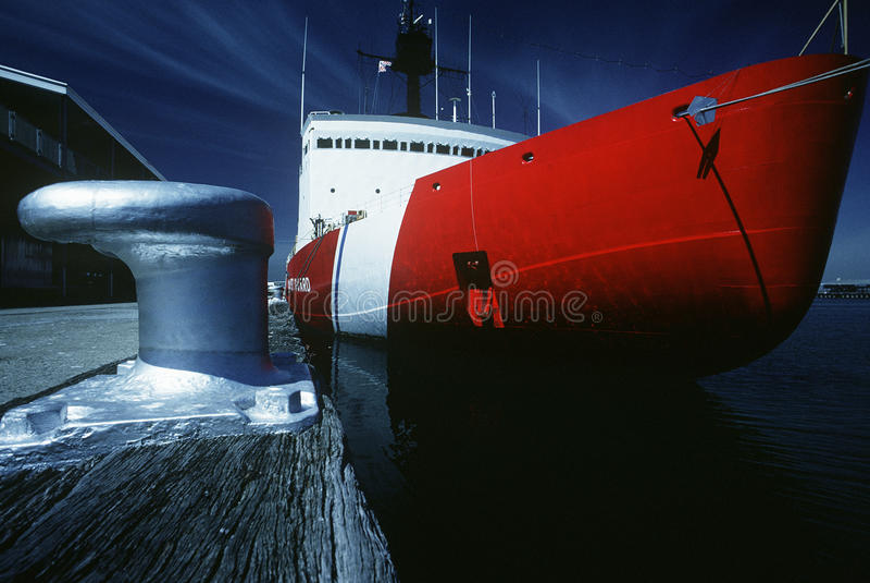 US-Küstenwachschiff Hafen Melbourne Victoria Australia stockbilder