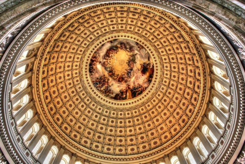 US-Kapitol-Hauben-Innenraum lizenzfreie stockbilder