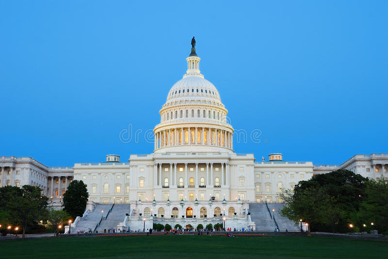 US-Kapitol, Washington DC. lizenzfreies stockbild