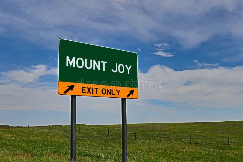 US-Landstraßen-Ausgangs-Zeichen für Berg-Freude stockfotografie