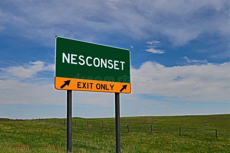 US-Landstraßen-Ausgangs-Zeichen für Nesconset stockbilder