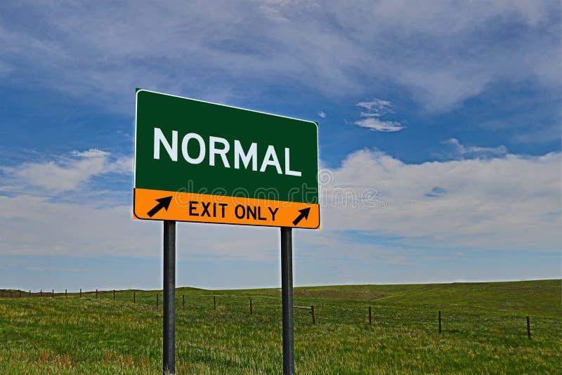 US-Landstraßen-Ausgangs-Zeichen für Normal lizenzfreies stockbild